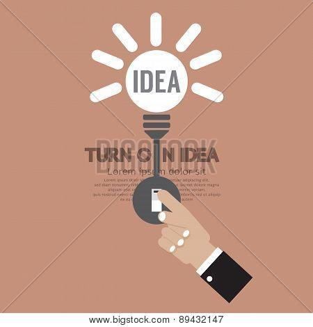 Abstract Lightbulb Turn On Idea Concept Creativity.