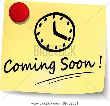 Coming Soon Note Sign