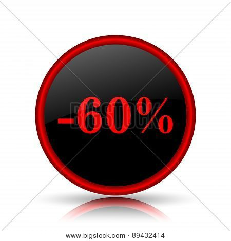 60 Percent Discount Icon