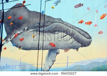 Wales mural