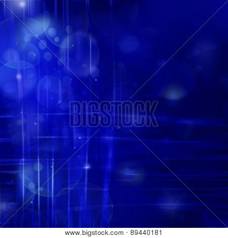 Blue Abstract Background With Light Lines