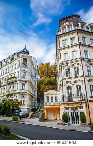 View On Moskevsky Dvur Hotel In Carlovy Vary