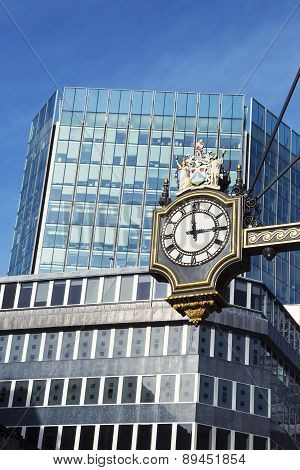 Clock And Buildings
