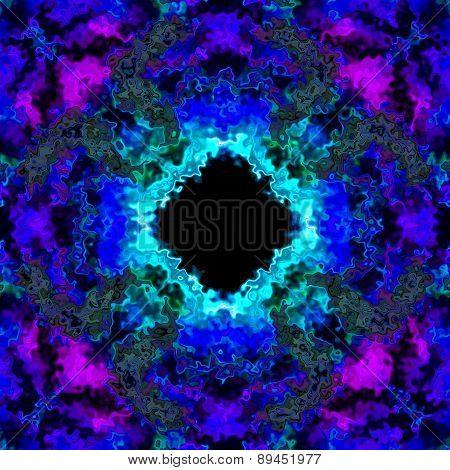 Colorful Frozen Sharp Ice In Blue Purple 3D Illusion Made Seamless