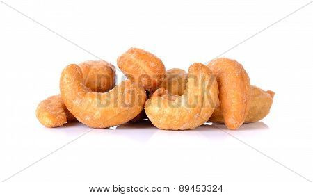 Cashew Nuts Isolated On The White Background