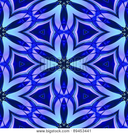 Abstract Blue Glass-like Geometric Texture Or Background Made Seamless