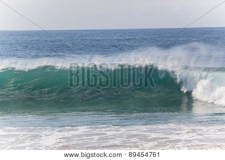 Wave Crashing Beach