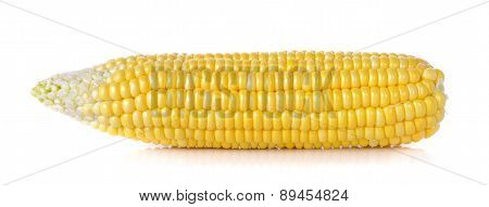 Raw Corn Isolated On The White Background