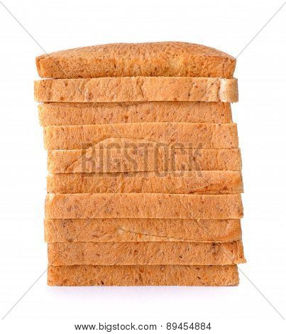 Whole Wheat Bread Isolated On The White Background