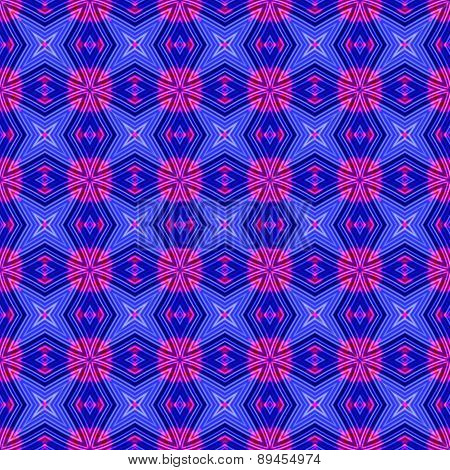 Abstract Blue Pink Geometrical Texture Or Background Made Seamless