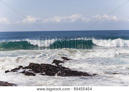 Waves Coastline Rocks