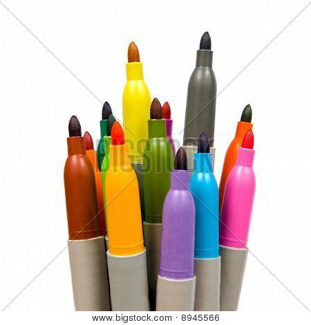 Multicoloured Soft-tip Pen.
