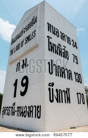 Highway Location Marker Thailand