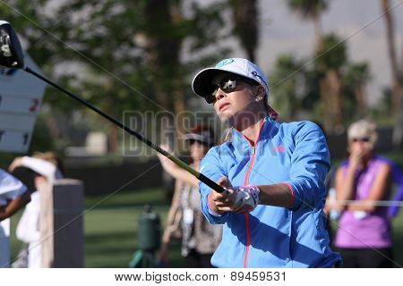Paula Creamer  at the ANA inspiration golf tournament 2015