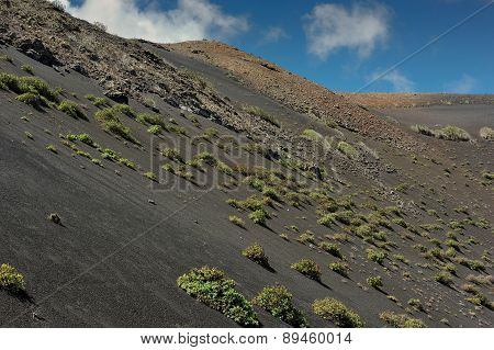 Volcanic Mountains At Lanzarote Island, Canary Islands, Spain