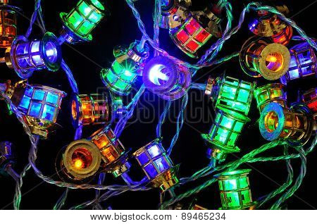 Christmas LED lanterns.