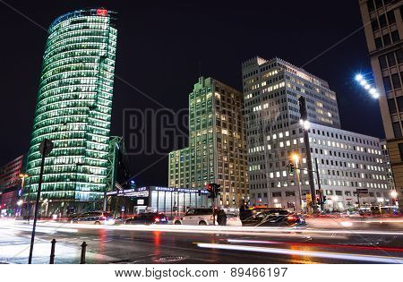 Evening View Of Potsdamer Platz - Financial District Of Berlin, Germany