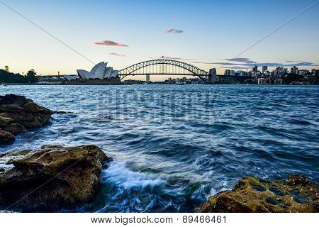 Sydney, Australia - May 6 , 2015 : Opera House And Harbour Bridge