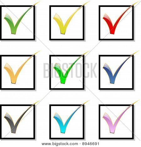 Check mark-Icon set