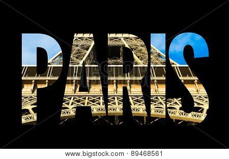 Paris text on black background