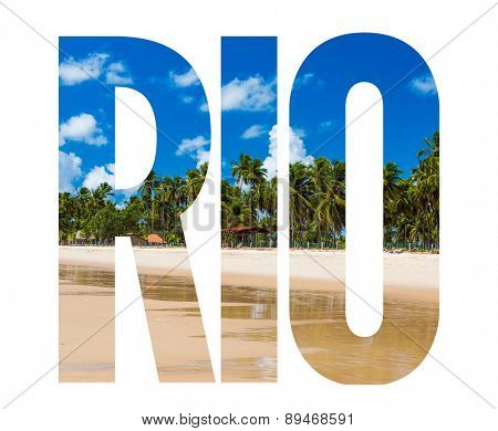 Rio text on white background