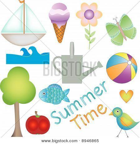 Gráficos de vetor de horário de Verão