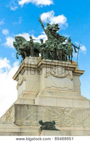 Monument of independence in Ipiranga, Sao Paulo, Brazil