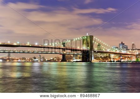 Brooklyn Bridge And East River