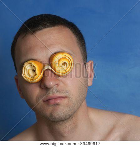 Man With Orange Peel Eyeglasses