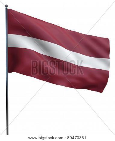 Latvia Flag Image