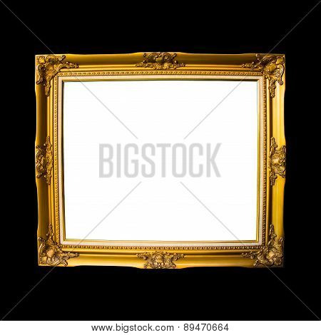 Frame Vintage Isolated On Black Background