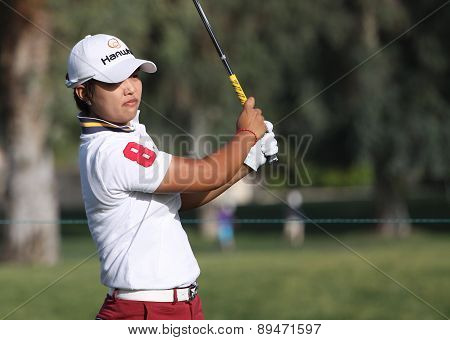 Haru Nomura at the ANA inspiration golf tournament 2015