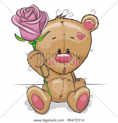 Bear With Flower