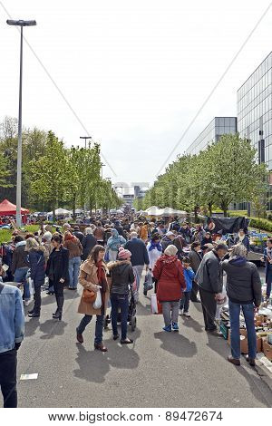 Flea Market Each First Day Of May In Brussels