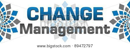 Change Management Blue Grey Squares Horizontal