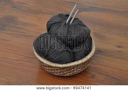 Balls Of Wool In Basket
