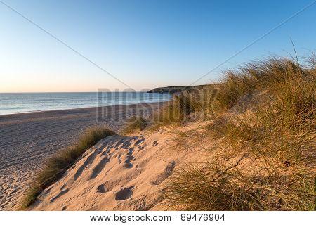Sand Dunes At Holywell Bay