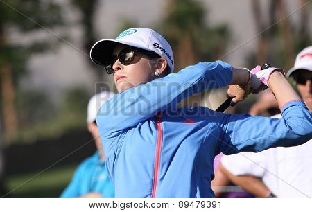 Paula Creamer of USA at the ANA inspiration golf tournament