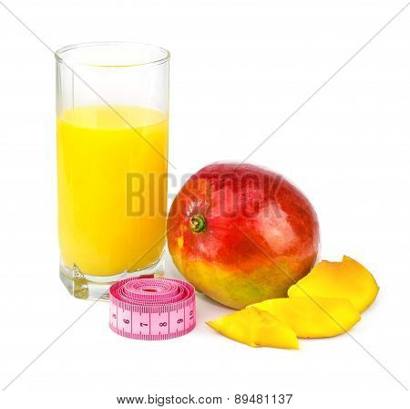 Mango Juice, Mango Fruit With Centimeter