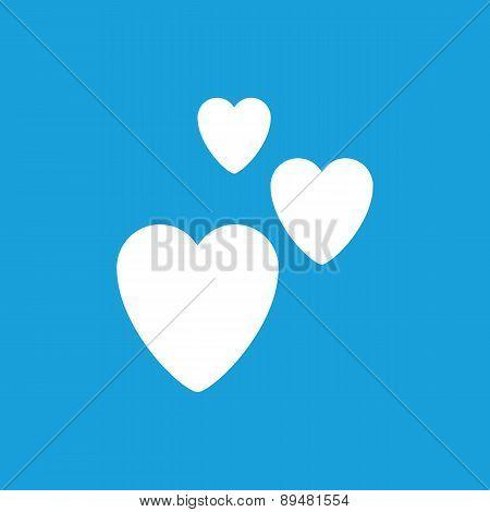 Three hearts symbol