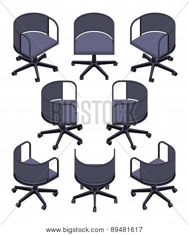 Isometric office spinning chair