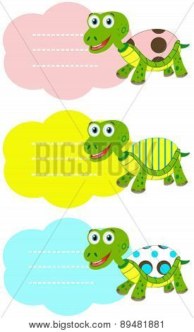 Labels with Cute turtles