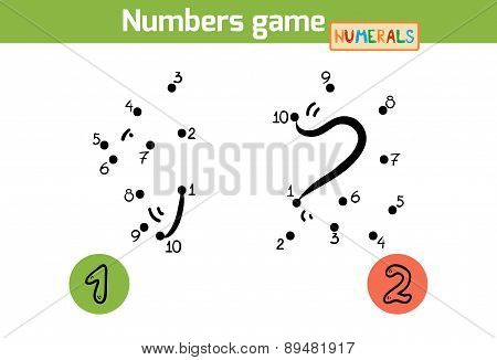 Numbers Game (numerals): One, Two. Numbers From One To Ten
