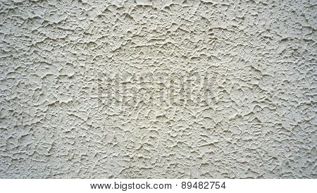 Texture On White Cement Wall Finishing Horizontal