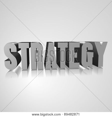 3D Text With The Word Strategy