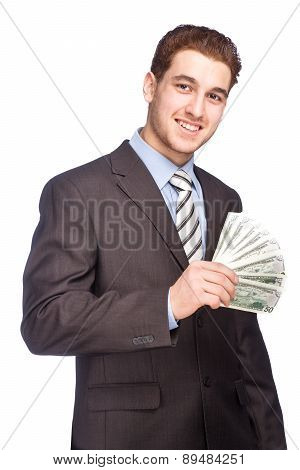 Man With Money In Suit