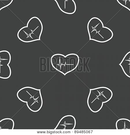 Heart with cardiogram pattern