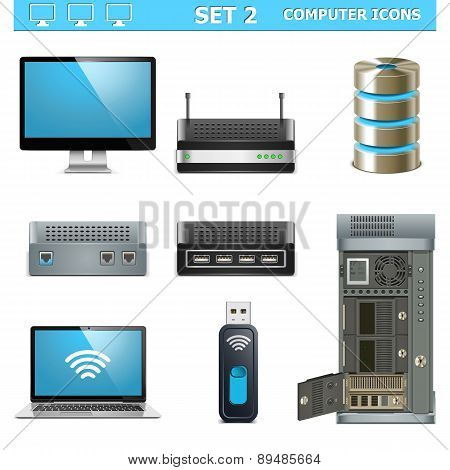 Vector Computer Icons Set 2