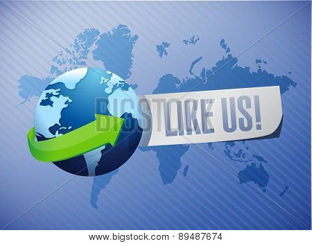 Like Us International Sign Concept