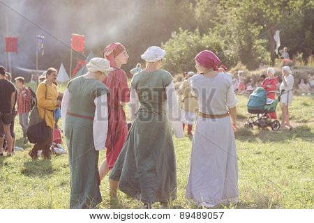 Participants Of Tustan' Festival In Urych, Ukraine, August 2, 2014
